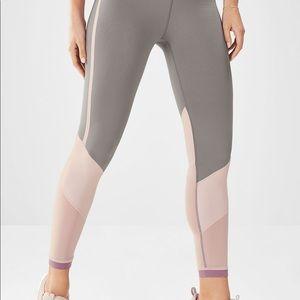 XL Grey/Pink ~Fabletics Salar PowerHold Legging
